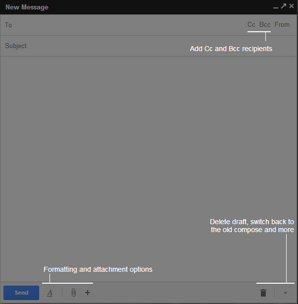 new gmail compose screen